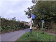 SS8928 : Road junction at the top of Windball Hill by David Smith