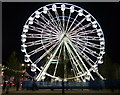 SK5905 : Leicester's 'wheel of light' at night by Mat Fascione