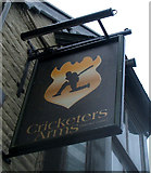 NZ0516 : Sign for the Cricketers Arms, Barnard Castle by JThomas