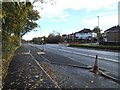 SE2534 : Stanningley Road with bus stop and cycle lane by Stephen Craven