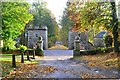 NC8401 : Main Gate and Drive to Dunrobin Castle, Sutherland by Andrew Tryon