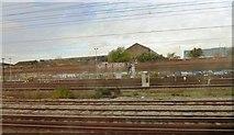 TQ2282 : Railway lines, works and graffiti by Clint Mann