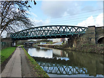 TQ2182 : Railway over canal by Robin Webster