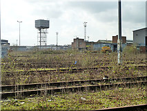 TQ2182 : Disused locomotive yard, Old Oak Common, 2011 by Robin Webster