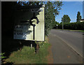 TL3863 : Modified sign, Bar Hill by Hugh Venables
