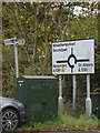 TL1313 : Roadsign & Telecommunications Box on the B487 Redbourn Lane by Adrian Cable