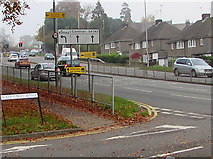 ST3090 : Malpas Road directions sign, Newport by Jaggery