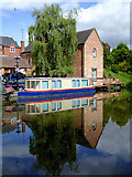 SO8171 : Private moorings in Stourport, Worcestershire by Roger  Kidd