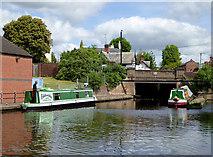 SO8171 : York Street Bridge above Stourport Upper Basin Worcestershire by Roger  Kidd