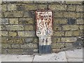 SU4111 : Valve marker, Bugle Street, Southampton  by Stephen Craven