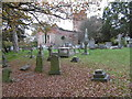 TQ1692 : Old Stanmore Church and churchyard by Marathon