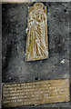 SK9551 : Memorial Brass, St Swithun's church, Leadenham by Julian P Guffogg