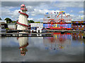 SO8071 : Funfair and Lower Basin at Stourport, Worcestershire by Roger  Kidd