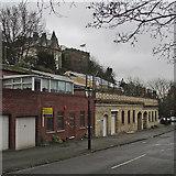SK5639 : Peveril Drive, Nottingham Castle and the edge of Storm Abigail by John Sutton