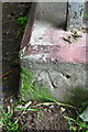NY6819 : Benchmark on bottom step of Jubilee Bridge by Roger Templeman