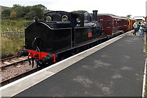 SO2508 : Webb Coal Tank and coaches at Blaenavon (High Level) railway station by Jaggery