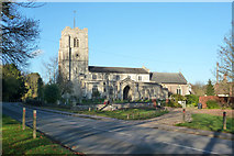 TL3949 : Barrington church by Robin Webster