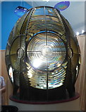 SH1726 : The lighthouse optic in Porth y Swnt by David Medcalf