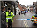 SP9211 : A Policewoman at the scene of Crime in Tring High Street by Chris Reynolds