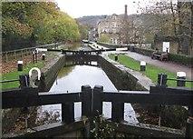 SD9927 : The Rochdale Canal in Hebden Bridge by Dave Pickersgill