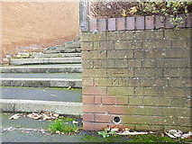 SJ6903 : OS benchmark - Sutton Hill, steps to Sutton Way by Richard Law
