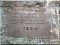 NZ1400 : Hudswell St Michael: foundation stone by Stephen Craven
