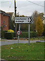 TM0231 : Roadsign on Wick Road by Geographer