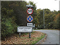 TM2446 : Martlesham Village Name sign on Main Road by Adrian Cable
