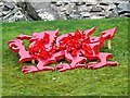 SH7877 : Welsh dragon with poppies by Richard Hoare