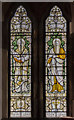 SK9272 : Stained glass window, St Lawrence's church, Skellingthorpe by Julian P Guffogg