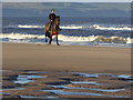 NZ4935 : Horse rider on North Sands by Oliver Dixon