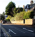 ST3087 : White arrows painted on Caerau Road, Newport by Jaggery