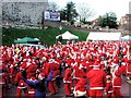 TQ7468 : Warm up before Santa Fun Run, Rochester by Chris Whippet