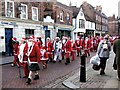 TQ7468 : Parade, Santa Fun Run, High Street, Rochester by Chris Whippet