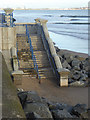 NZ5230 : Steps to the beach, Seaton Carew by Oliver Dixon
