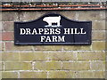 TM2374 : Drapers Hill Farm sign by Adrian Cable