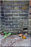 TQ1780 : Benchmark on wall of Pitzhanger Manor by Roger Templeman