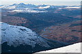 NN4324 : View over Crianlarich and the River Fillan from the southern ridge of Ben More by Doug Lee