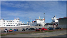 HU4642 : Cars and Ferries at Lerwick by Des Blenkinsopp