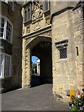 ST5545 : Penniless Porch, Wells by Derek Harper