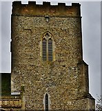TM1273 : Yaxley; St. Mary the Virgin Church tower by Michael Garlick