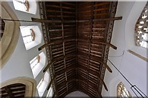 TM1273 : Yaxley; St. Mary the Virgin Church: The nave roof by Michael Garlick