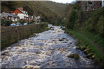 SS7249 : East Lyn River, Lynmouth by Ian S