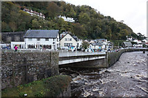 SS7249 : West Lyn River meets East Lyn River, Lynmouth by Ian S