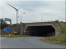 SP5772 : The A5 at junction 18 of the M1 motorway by Mat Fascione