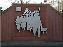 NZ3265 : 'The Jarrow March', Jarrow Metro Station by Andrew Curtis