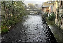 SD9927 : Hebden Water, Hebden Bridge, West Yorkshire by Steve Whalley