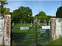NH6750 : Kilmuir Burial Ground gates by Peter Bond