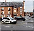 SJ4912 : White van, black van, Shrewsbury by Jaggery
