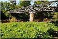 NY7964 : Bailey bridge over the River Allen by Philip Halling